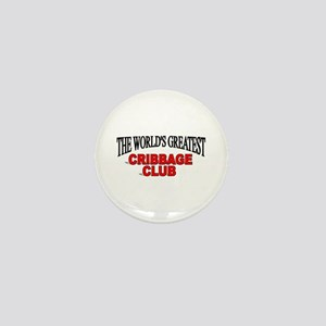"""""""The World's Greatest Cribbage Club"""" Mini Button"""