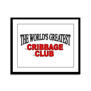 """""""The World's Greatest Cribbage Club"""" Framed Panel"""