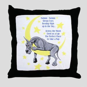 Great Dane Blue Twinkle Throw Pillow
