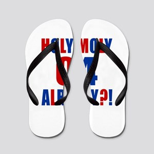 04 Holy Moly Birthday Designs Flip Flops
