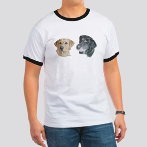 Black and Yellow Labs Ringer T