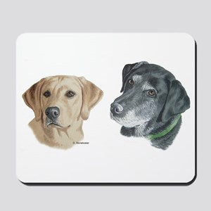 Black and Yellow Labs Mousepad
