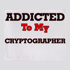 Addicted to my Cryptographer Throw Blanket