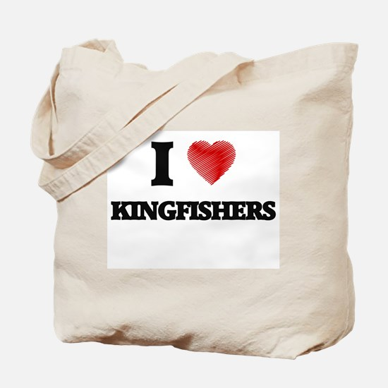 I love Kingfishers Tote Bag