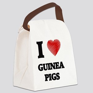 I love Guinea Pigs Canvas Lunch Bag