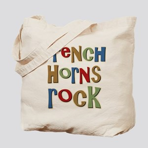 French Horns Rock Lover Player Tote Bag