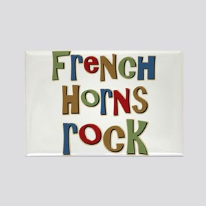 French Horns Rock Lover Player Rectangle Magnet