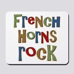 French Horns Rock Lover Player Mousepad