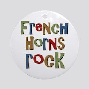 French Horns Rock Lover Player Ornament (Round)