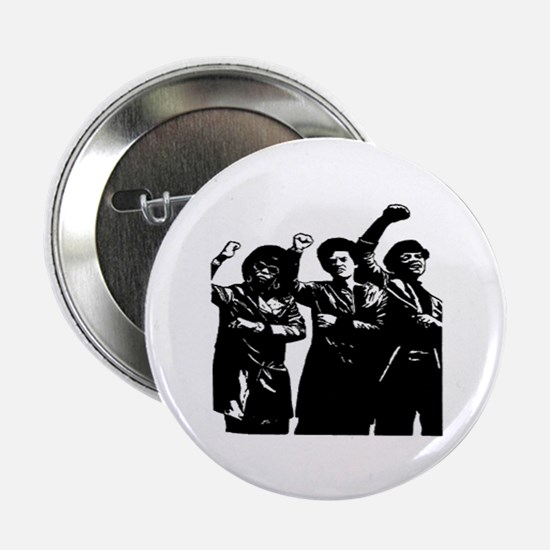 Black Power Panther Sistahs Button