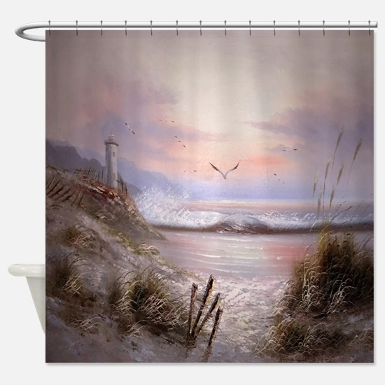 Cute Seagulls Shower Curtain