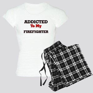 Addicted to my Firefighter Women's Light Pajamas