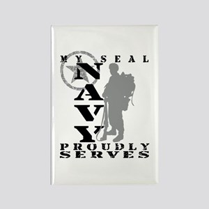 Seal Proudly Serves 2 - NAVY Rectangle Magnet