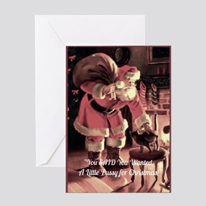 Naughty Santa Greeting Cards