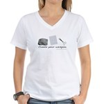 Choose your weapon Women's V-Neck T-Shirt