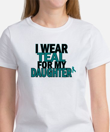 I Wear Teal For My Daughter 5 Women's T-Shirt