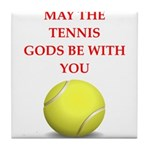 tennis joke Tile Coaster