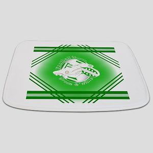 Green and White Football Soccer Bathmat