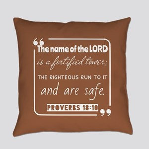 Proverbs 18:10 Inspirational Readi Everyday Pillow