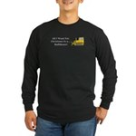 Christmas Bulldozer Long Sleeve Dark T-Shirt