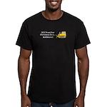 Christmas Bulldozer Men's Fitted T-Shirt (dark)