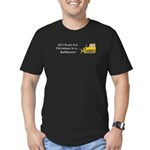 Christmas Bulldozer Men's Fitted T-Shirt (dark)