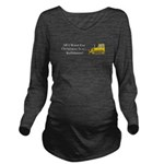 Christmas Bulldozer Long Sleeve Maternity T-Shirt