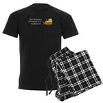 Christmas Bulldozer Men's Dark Pajamas