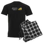 Christmas Bulldozer Men's Dark Pajamas