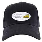 Christmas Bulldozer Black Cap