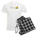 Christmas Bulldozer Men's Light Pajamas