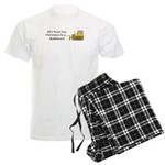 Christmas Bulldozer Men's Light Pajamas