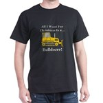 Christmas Bulldozer Dark T-Shirt