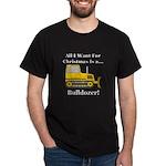 Christmas Bulldozer Dark T-Shirt