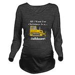 Christmas Bulldozer Long Sleeve Maternity T-Shirt