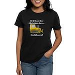Christmas Bulldozer Women's Dark T-Shirt