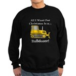 Christmas Bulldozer Sweatshirt (dark)