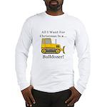 Christmas Bulldozer Long Sleeve T-Shirt