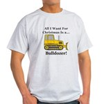Christmas Bulldozer Light T-Shirt