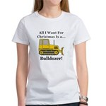 Christmas Bulldozer Women's T-Shirt