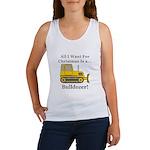 Christmas Bulldozer Women's Tank Top