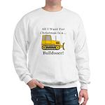 Christmas Bulldozer Sweatshirt