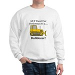 Christmas Bulldozer Sweatshirt
