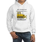 Christmas Bulldozer Hooded Sweatshirt
