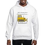 Christmas Bulldozer Hooded Sweatshirt