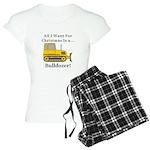 Christmas Bulldozer Women's Light Pajamas