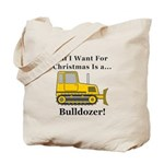 Christmas Bulldozer Tote Bag
