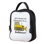 Christmas Bulldozer Neoprene Lunch Bag