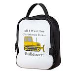 Christmas Bulldozer Neoprene Lunch Bag
