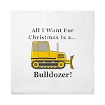 Christmas Bulldozer Queen Duvet